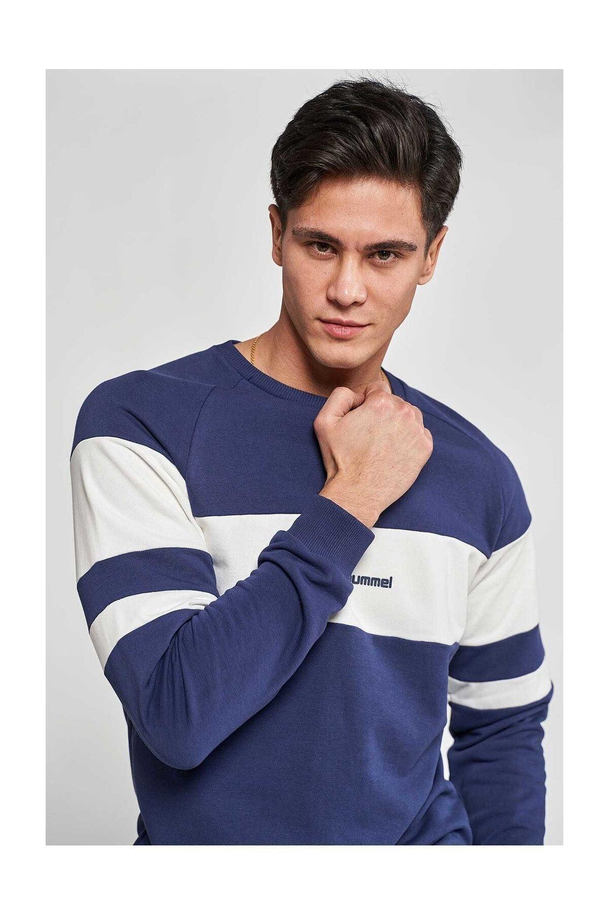 HUMMEL Erkek Mavi Pallas Sweatshirt 921042-9968 2