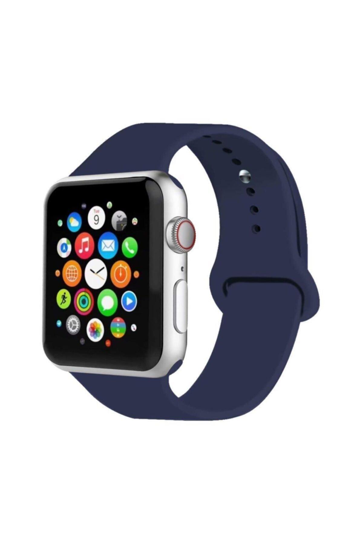 Cimricik Apple Watch Kordon 2 3 4 5 Seri 42 Mm Ve 44 Mm Silikon Kordon Kayış 1