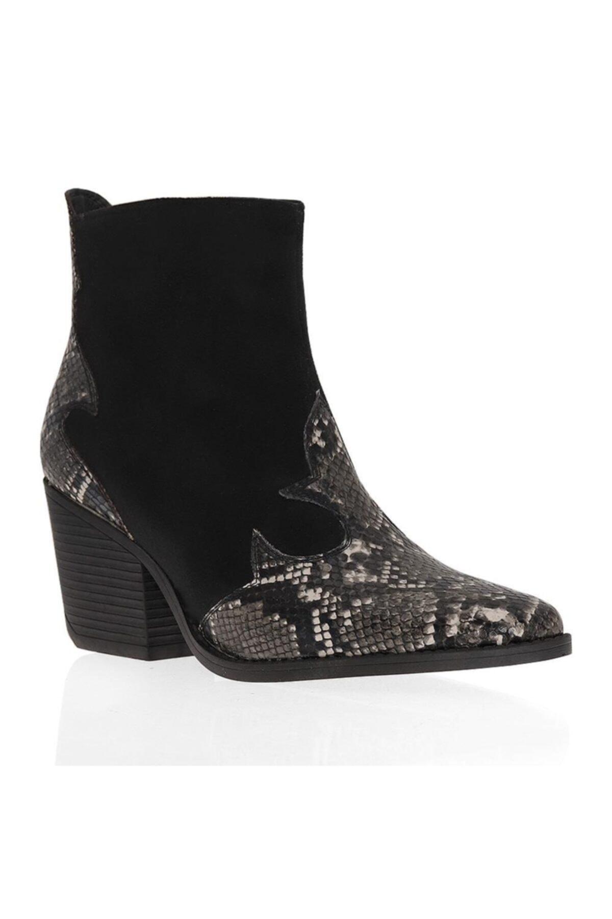 Ayakkabım Çantam Çizgi 6092 Kovboy Kadın Bot 1