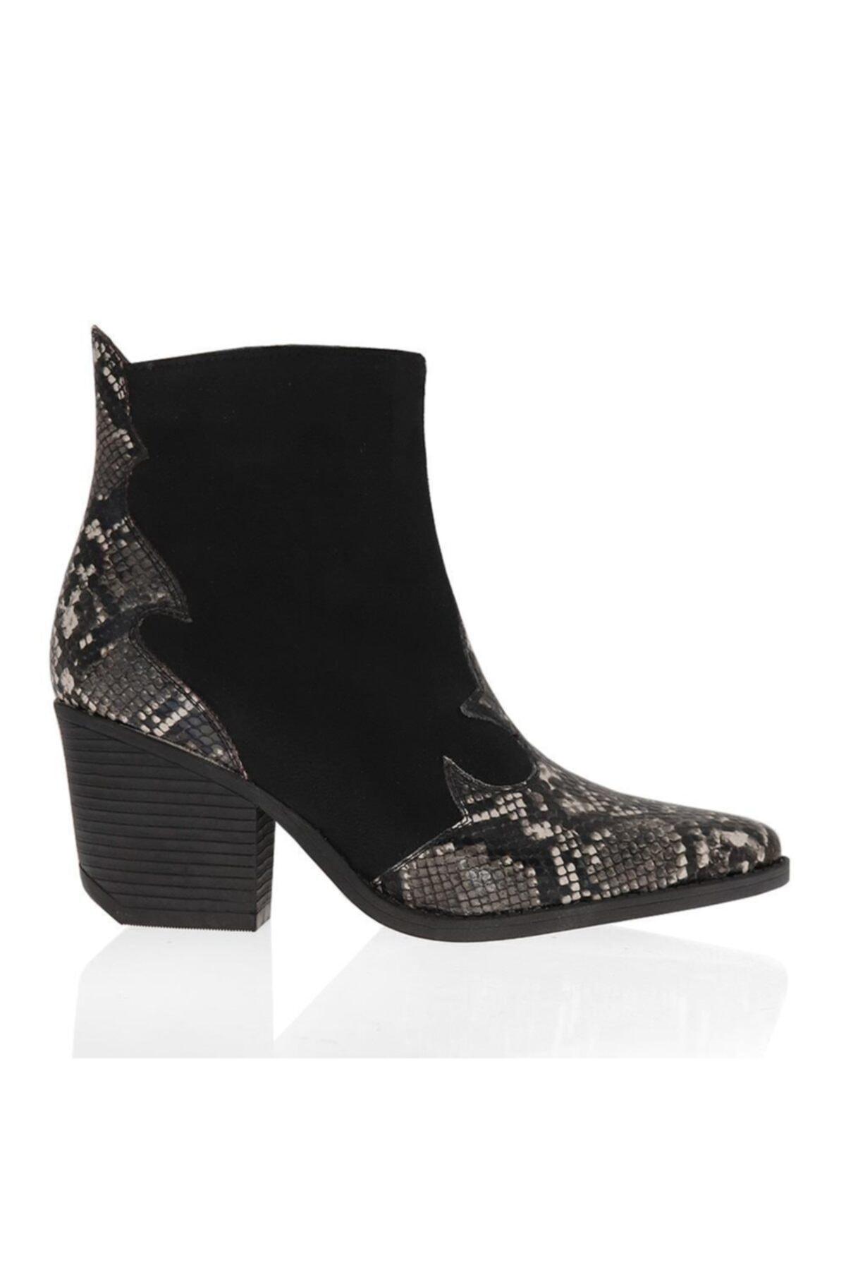 Ayakkabım Çantam Çizgi 6092 Kovboy Kadın Bot 2