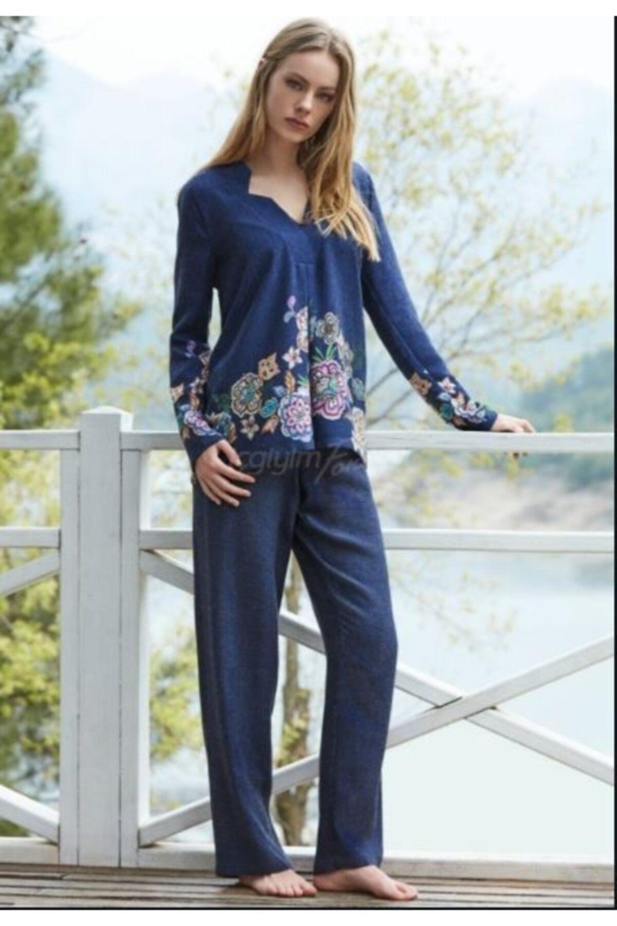Penyemood Kadın Lacivert Pijama Takım 1