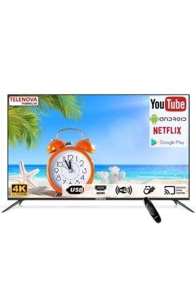 """TELENOVA 75S4K8001/20 75"""" 190 Ekran 4k Ultra HD Dahili Uydu Alıcılı Android Smart TV"""