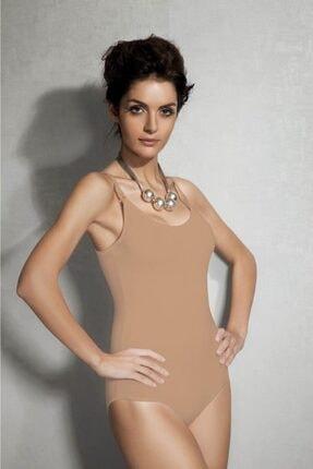 Doreanse Kadın Modal Ip Askılı Ten Body 12101