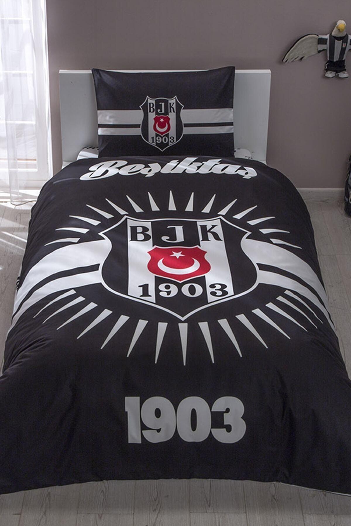 Taç Lisanslı Nevresim Tek Kişilik Beşiktaş Parlayan Güneş 1