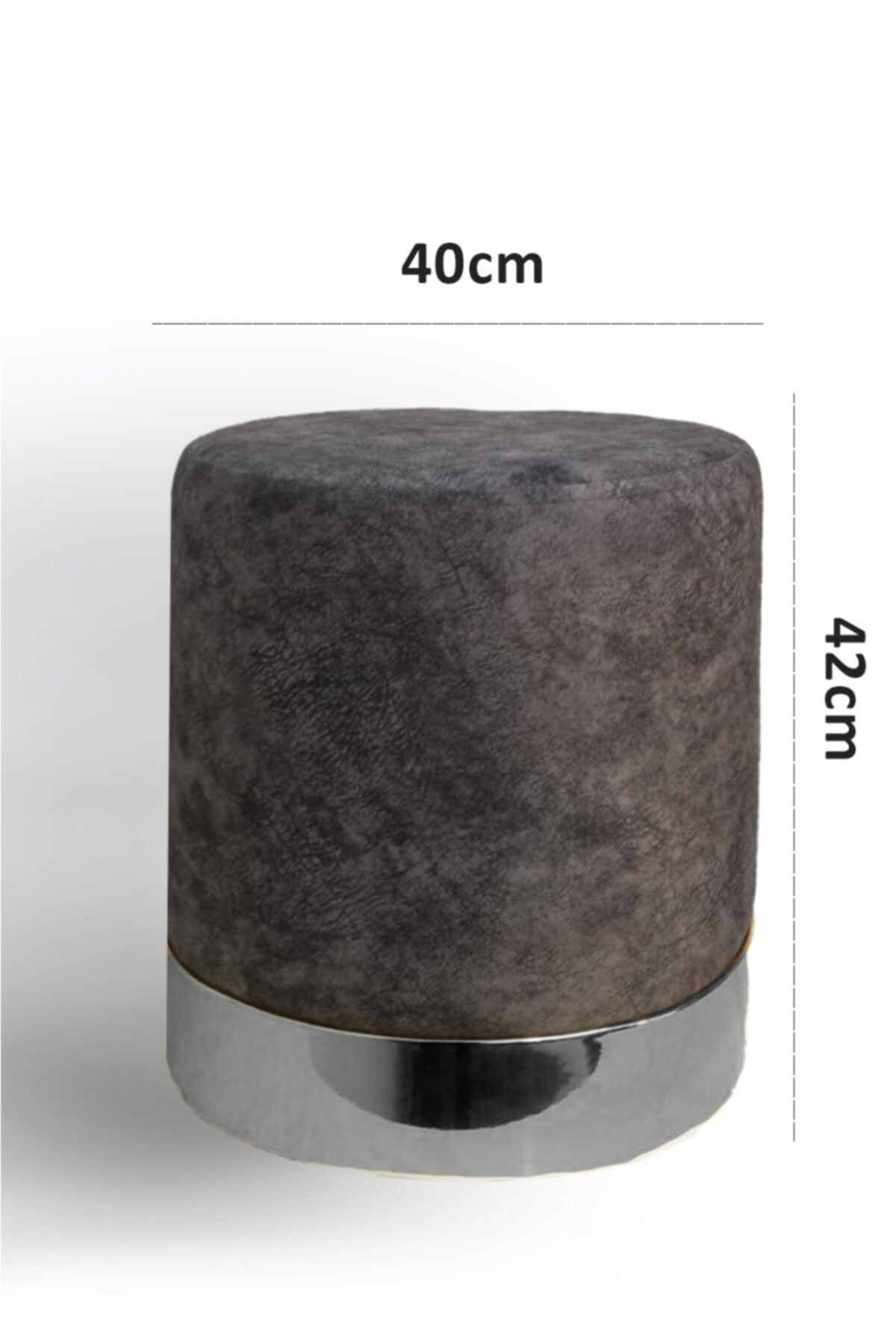 Zem Queen Grey - Silver Puf 2