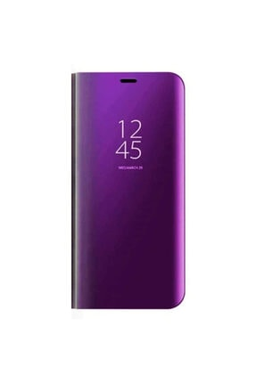 Nettech Samsung Galaxy Note 10 Plus Için Clear View Aynalı Kapaklı Kılıf - Mürdüm