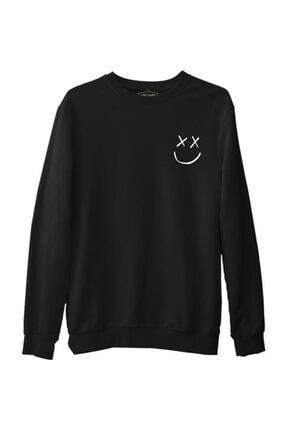Lord T-Shirt Erkek Louis Tomlinson - Face Siyah  Kalın Sweatshirt