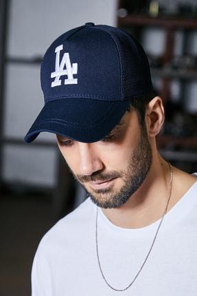 Sateen Men Erkek Lacivert Nakışlı Şapka