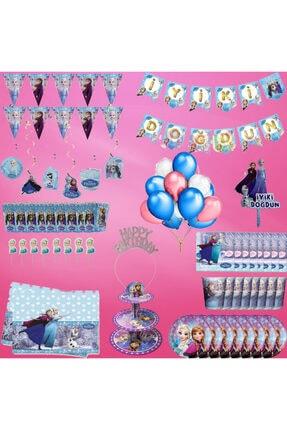 Frozen Elsa Doğum Günü Seti 90 Parça 8 Kişilik
