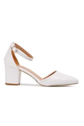 Maje Beyaz Kadın Topuklu Ayakkabı