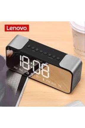 LENOVO L022 Kablosuz Bluetooth Hoparlör Led Ayna Çift Alarm Saat Fm Radyo