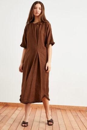 Love My Body Kadın Püskül Detaylı Keten Elbise