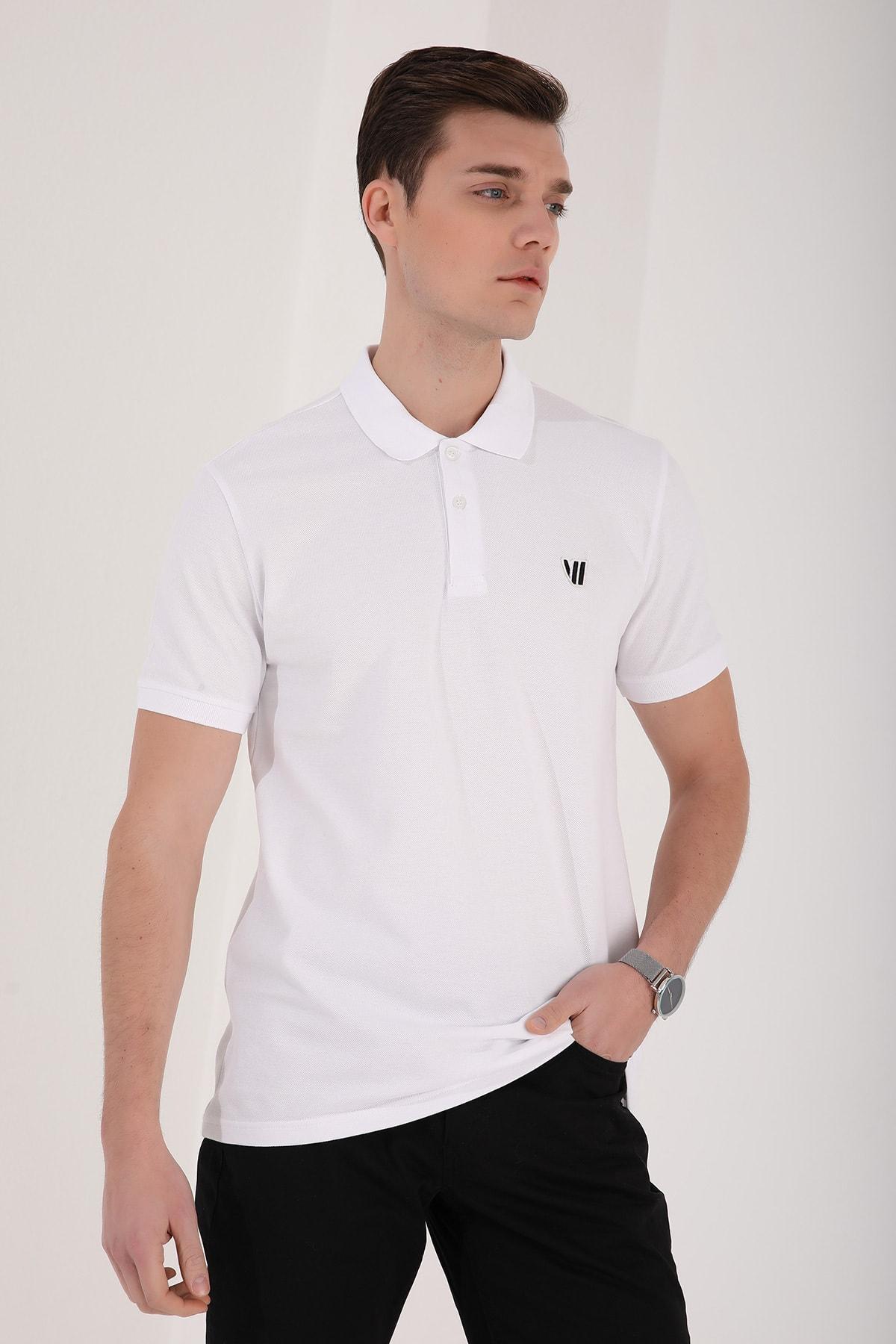 Tommy Life Klasik Polo Yaka Beyaz Erkek Tshirt T08ER-87768 1