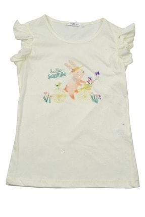 Zeyland Beyaz Bisiklet Baskılı T-shirt (5-14YAŞ)