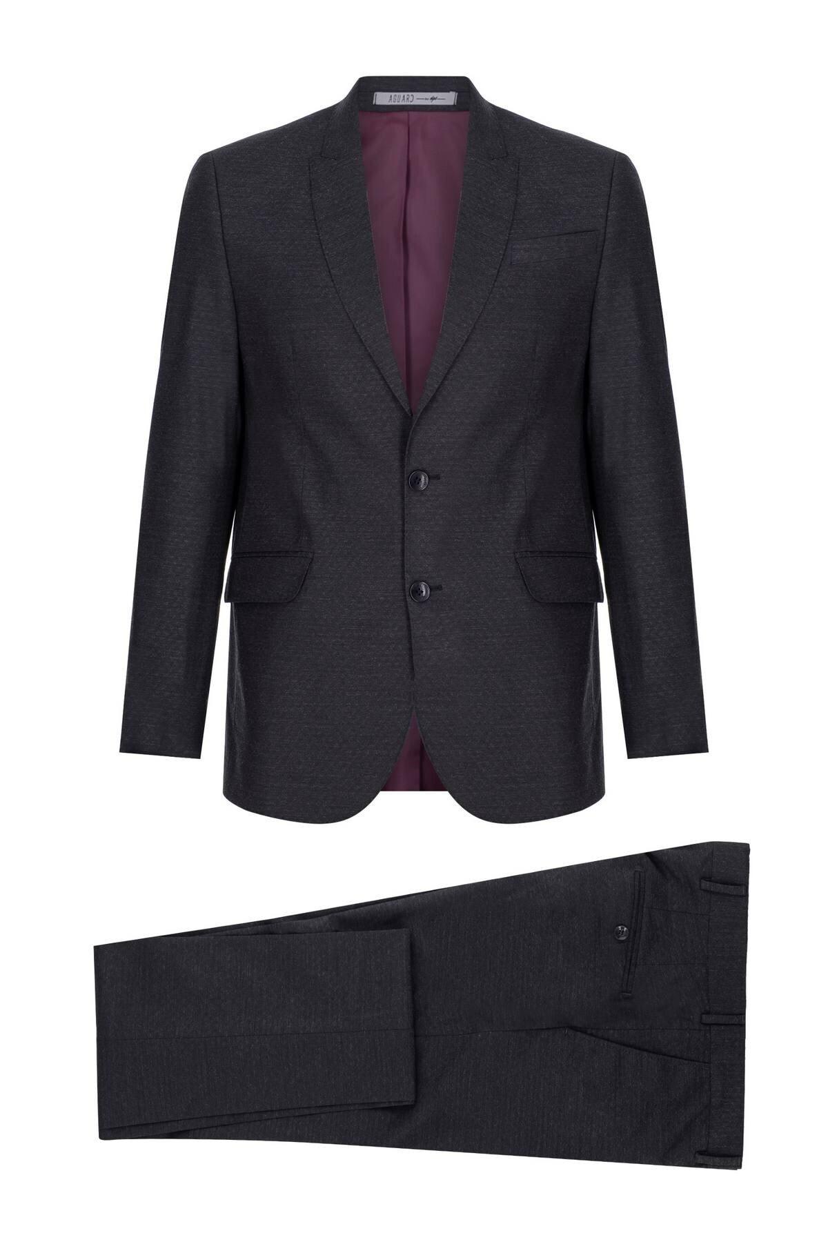 İgs Erkek Lacivert Slım Fıt / Dar Kalıp Ince Kırlangıç Takım Elbise 1