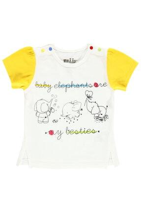 Kujju Kız Bebek Tişört 6-18 Ay Sarı