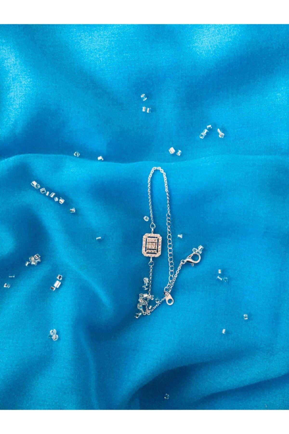 esjewelry Gümüş Baget Taşlı Bayan Bileklik 1