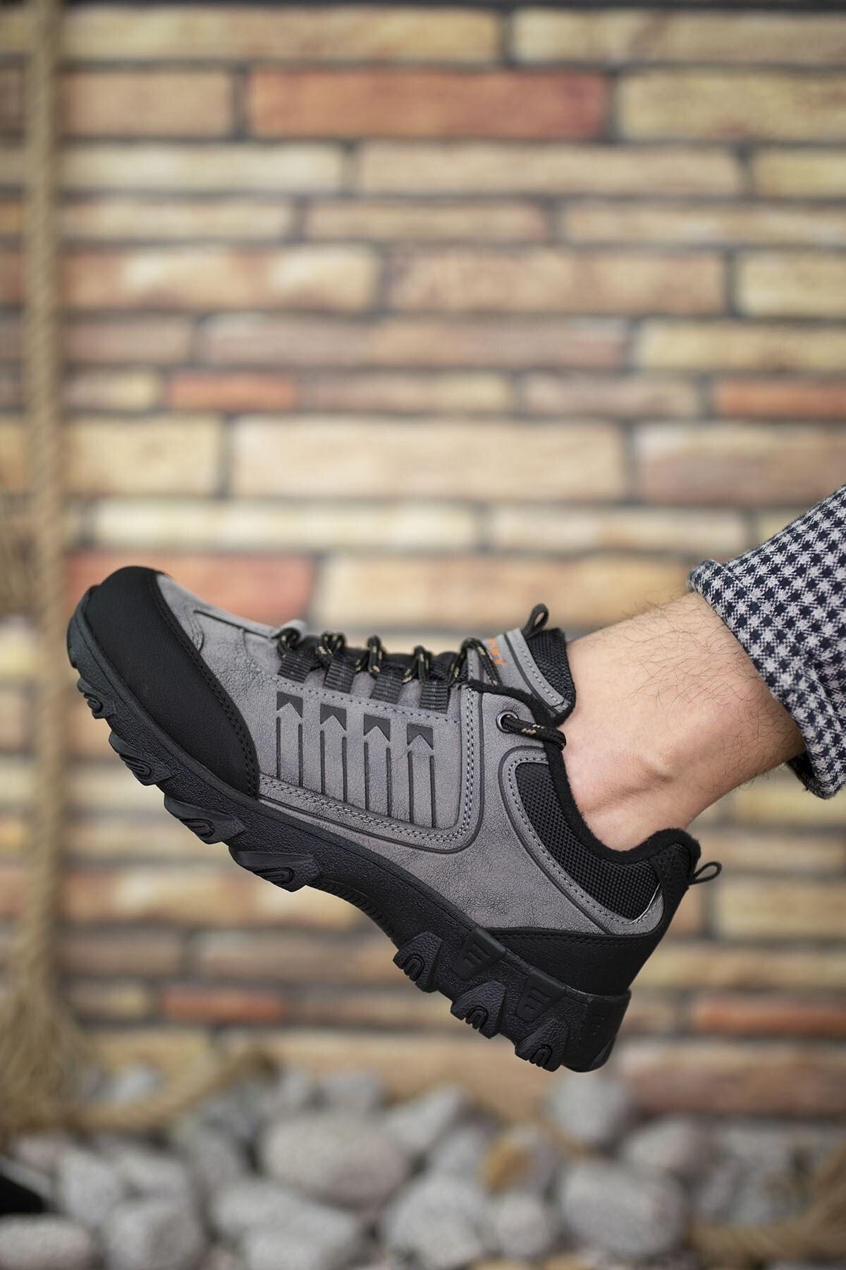 Riccon Füme Siyah Erkek Trekking Ayakkabı 00121180 1