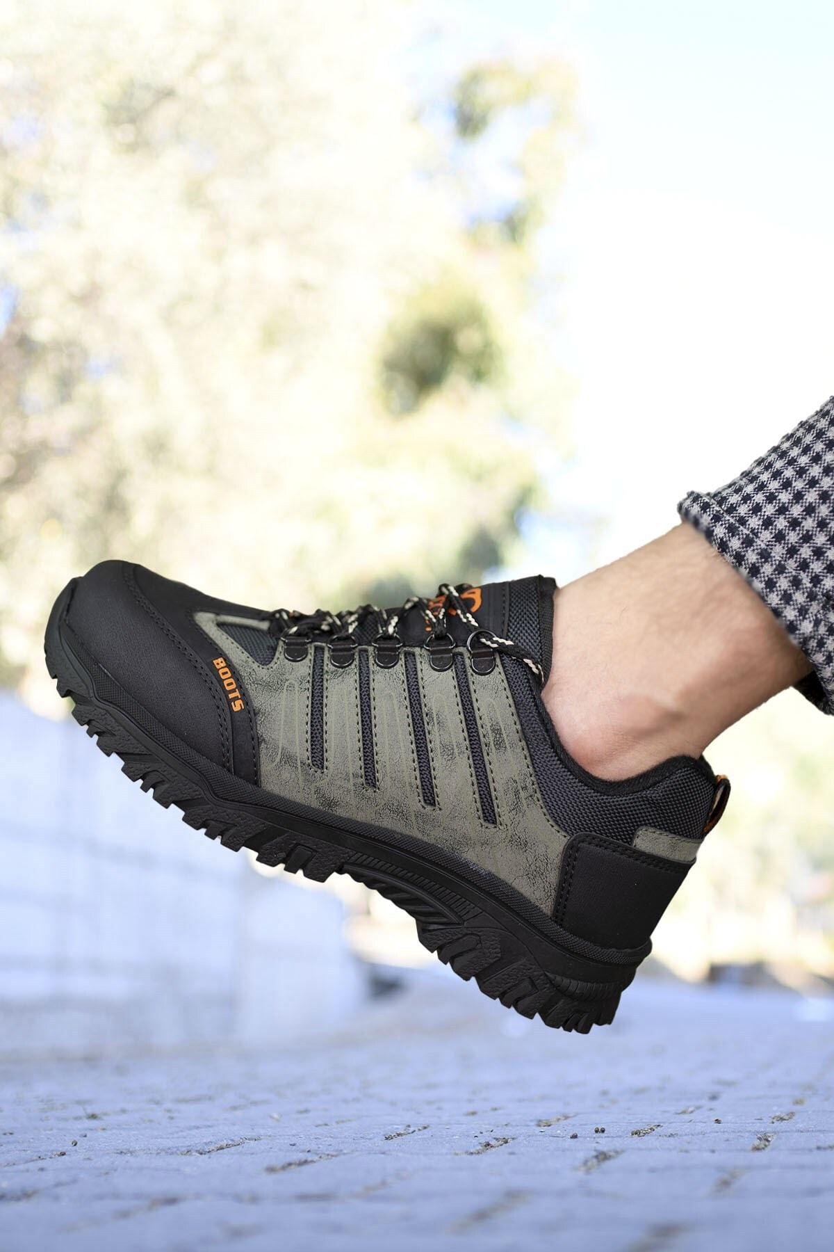 Riccon Haki Siyah Erkek Trekking Ayakkabı 0012115 1