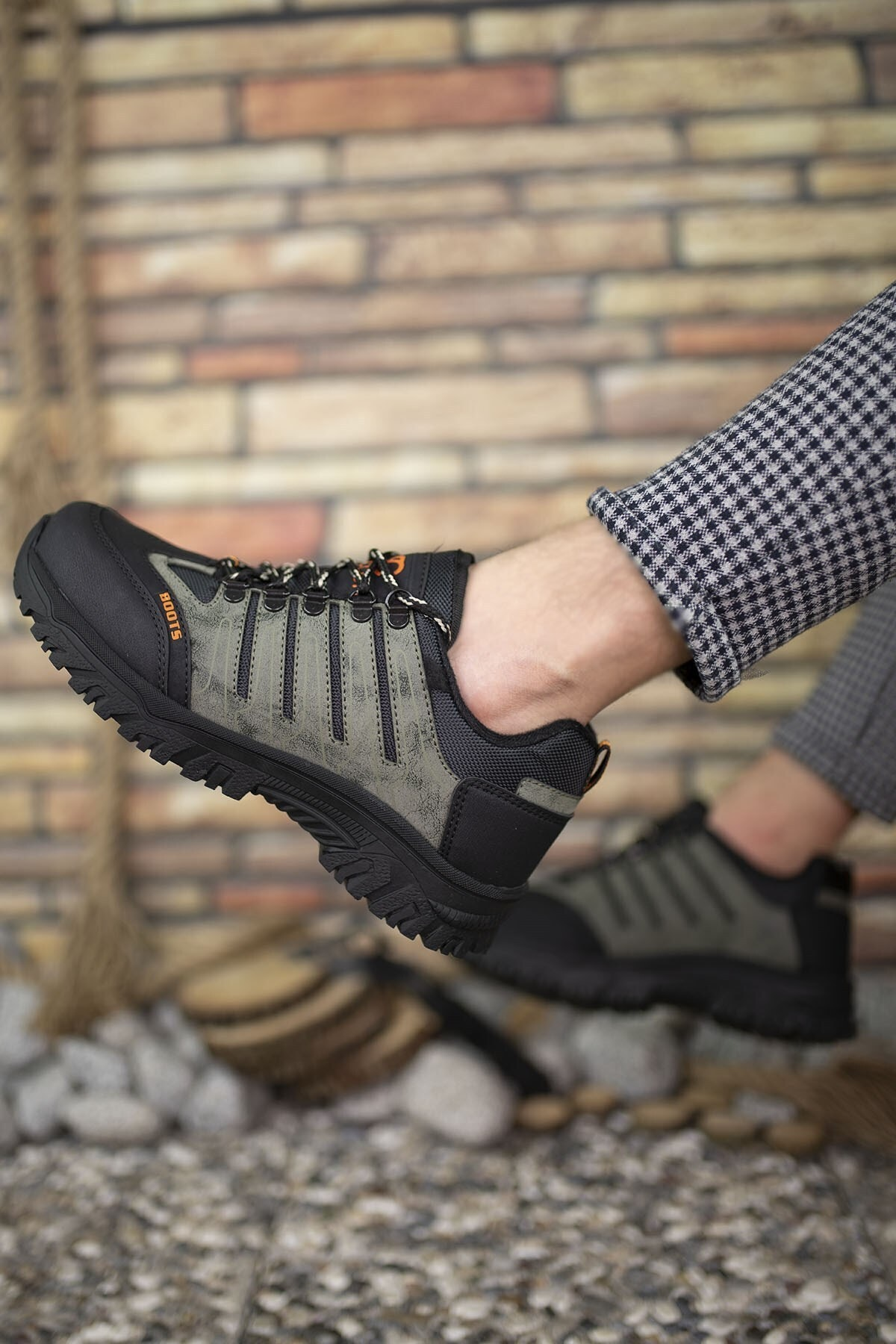 Riccon Haki Siyah Erkek Trekking Ayakkabı 0012115 2