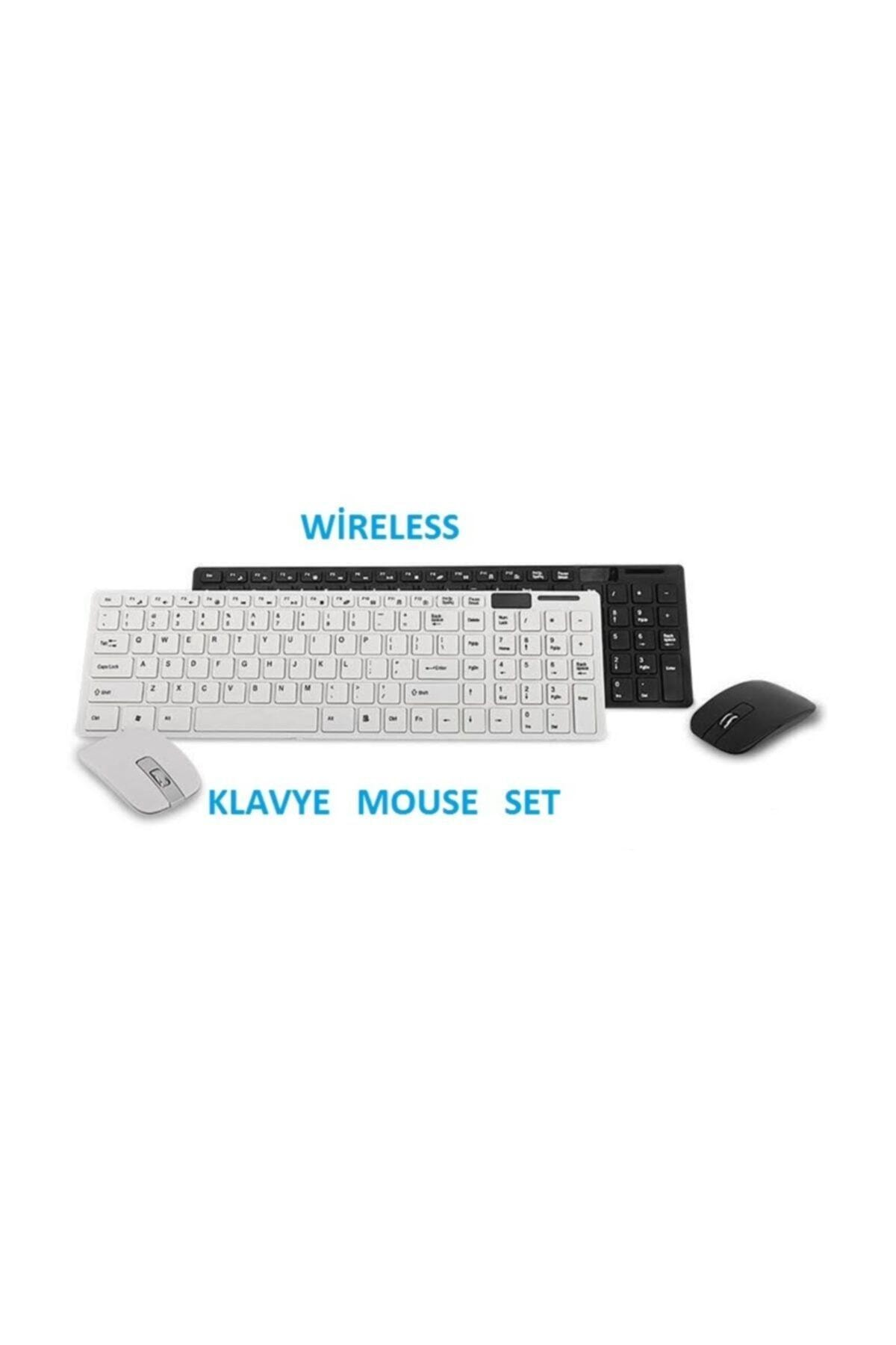 Platoon Kablosuz Klavye Mouse Seti 2.4 Ghz Wireless Tv Pc Uyumlu Pl-374 1