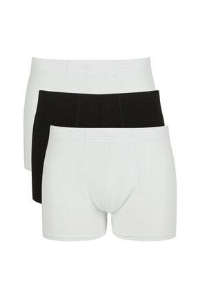 Penti Siyah Beyaz Basic 3lü Mıd Boxer