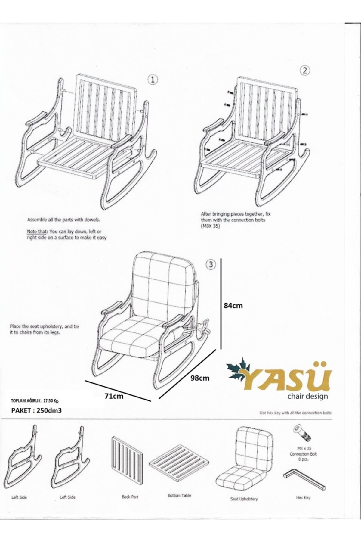 YASÜ Sallanan Koltuk - Dinlenme Koltuğu-baba Koltuğu-bahçe Sandalyesi-tv Koltuğu 2