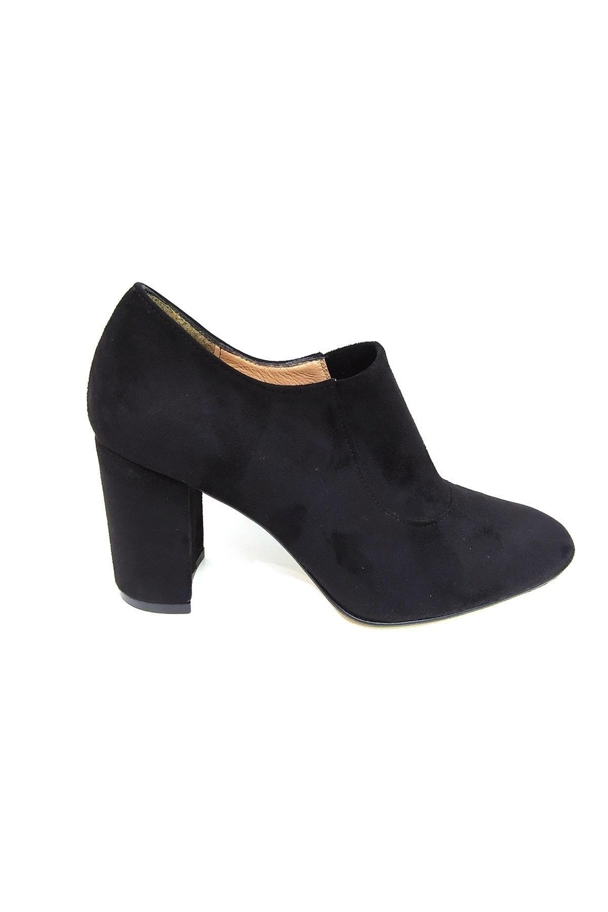 askurupon Siyah Kadın Kapalı Topuklu Ayakkabı 1