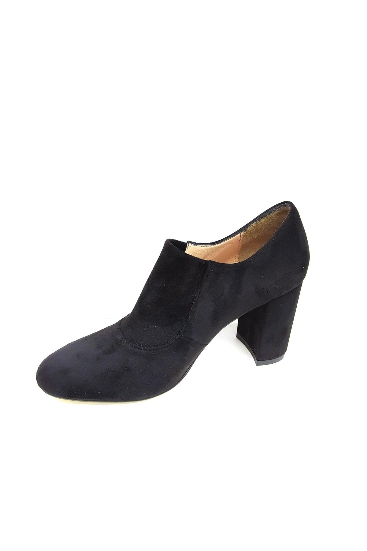 askurupon Siyah Kadın Kapalı Topuklu Ayakkabı 2