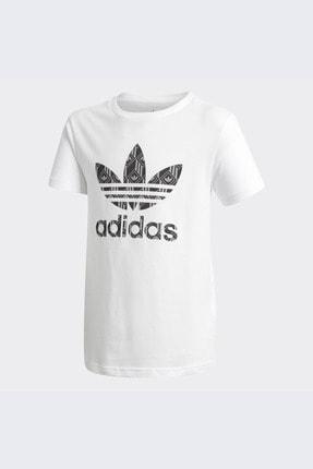 adidas Unisex Çocuk Beyaz Günlük T-shirt Tee Gd2811