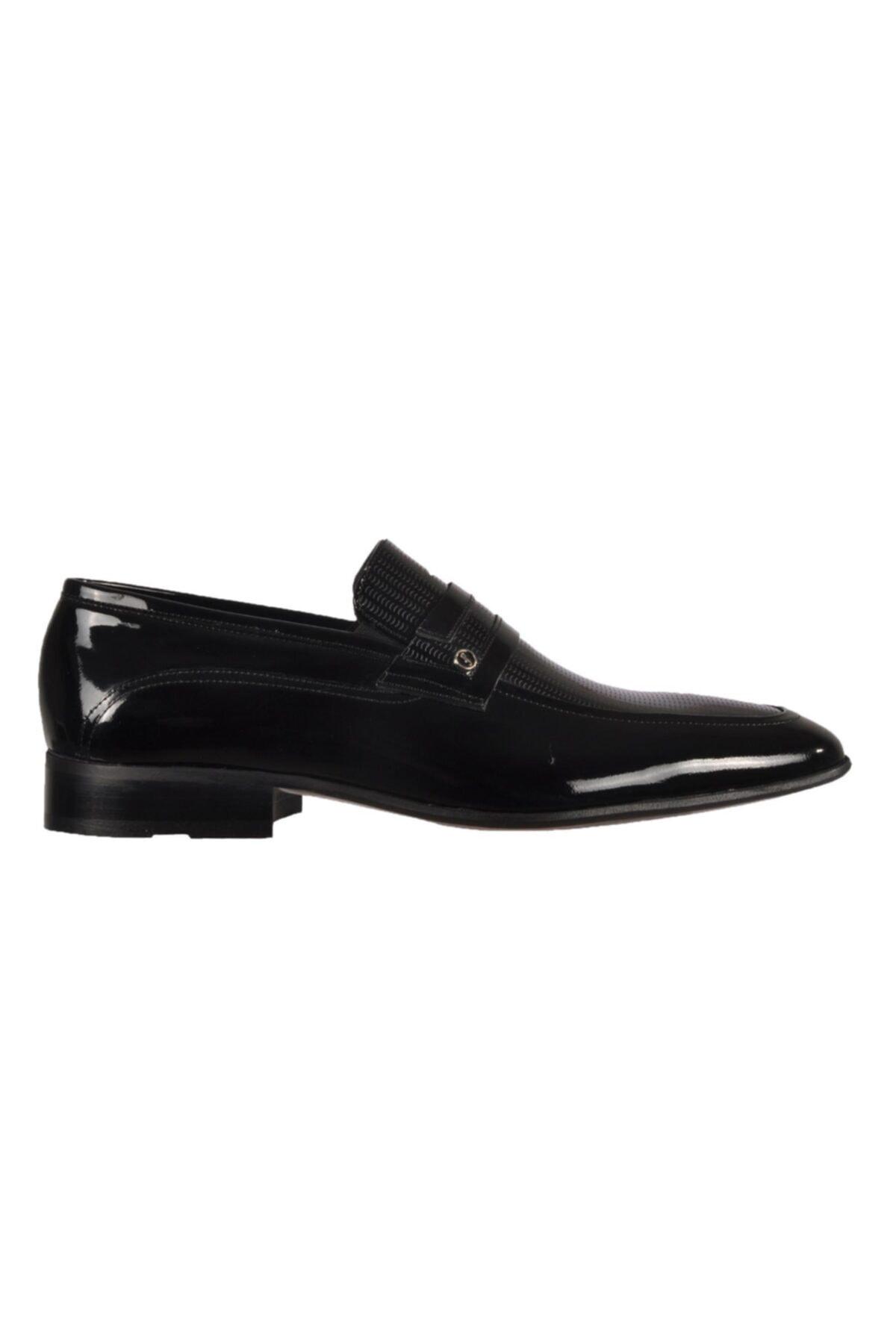 Fosco Siyah Rugan Erkek Hakiki Deri Klasik Ayakkabı 1