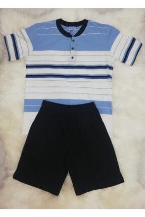 Haluk Bayram Baha 2361 Çizgili Şortlu Erkek Pijama Takımı