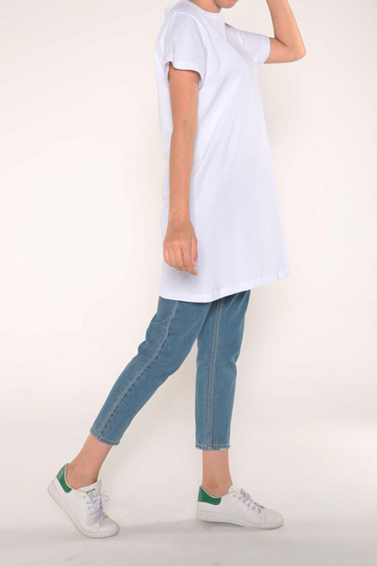 ALLDAY Beyaz Arkası Baskılı Kısa Kol T-shirt 2