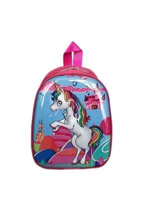 UNICORN Pony Horse 5d Kabartmalı Kreş Anaokulu İlkokul ve Günlük Kullanım Çocuk Sırt Çantası