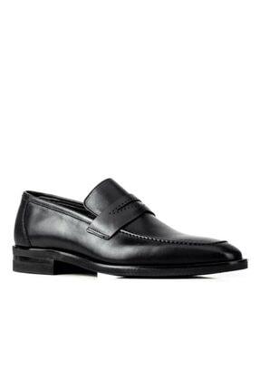 Cabani Erkek Siyah Hakiki Deri Klasik Ayakkabı