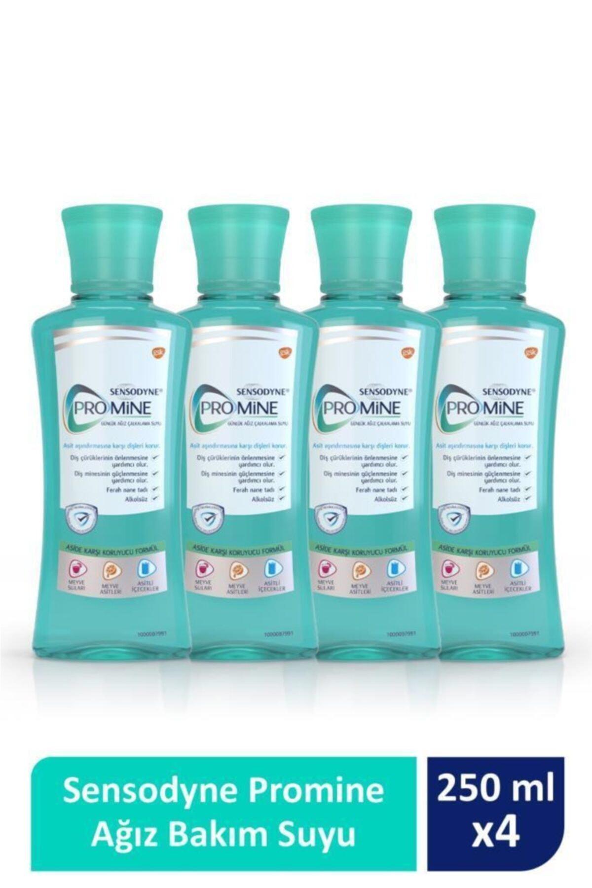 Sensodyne Promine Ağız Bakım Suyu 250ml X 4'lü Paket 1