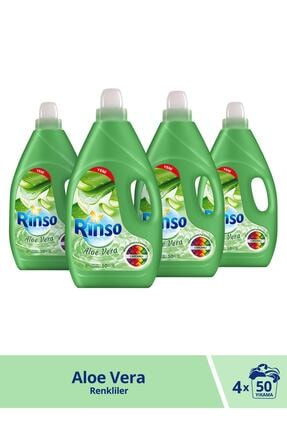 Rinso Aloe Vera Renkliler Için Sıvı Çamaşır Deterjanı 3000 ml 50 Yıkama X 4 Adet