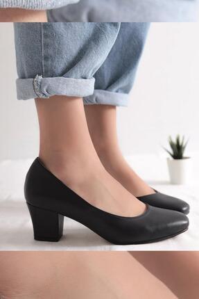 Limoya Charlee Lacivert Kısa Topuklu Ayakkabı