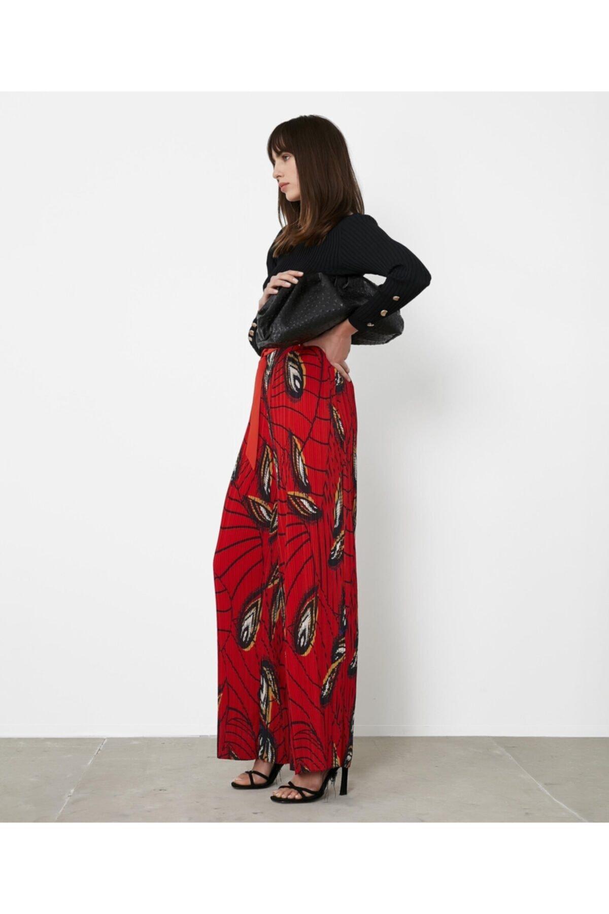 İpekyol Yüksek Bel Desenli Pantolon 2