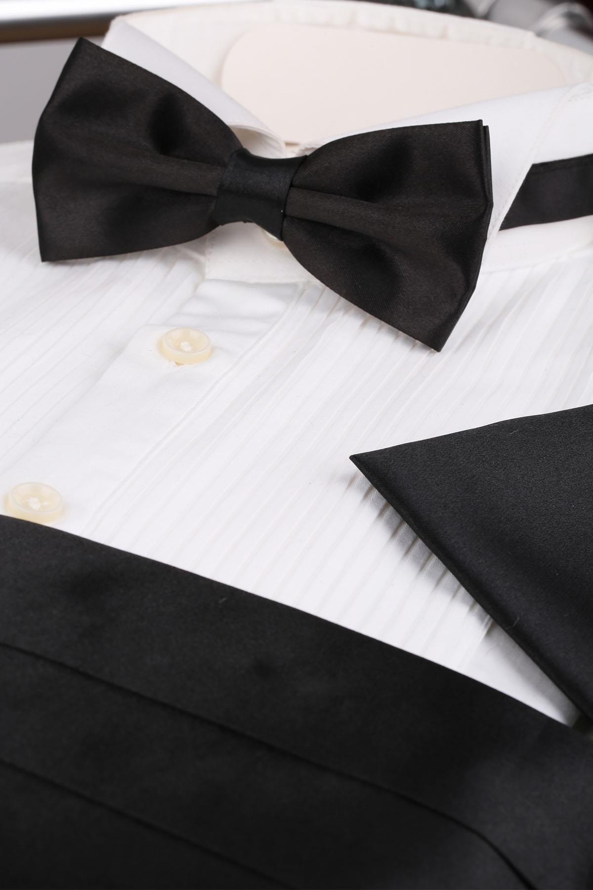 La Pescara Siyah Papyon Kuşak - Damatlık Smokin Kemeri Smk50 2