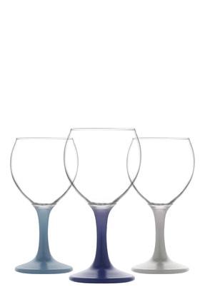 LAV Misket 3 Parça Şarap Kadehi