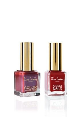 Pierre Cardin Studio Nails & Color Travel Nails- 2'li Oje