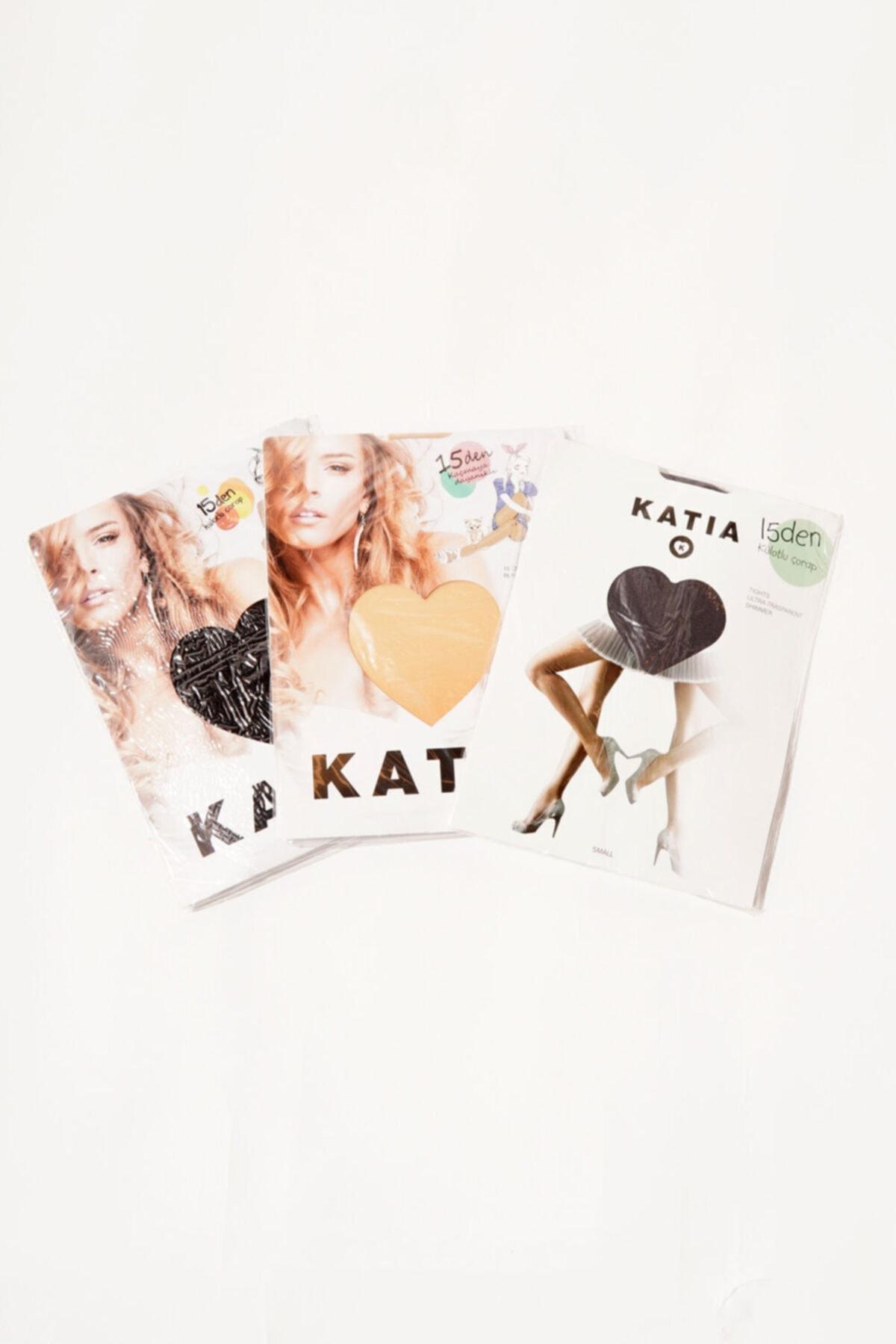 Katia&Bony 3 Lü Paket Basics Kadın Külotlu Çorap- Siyah/playa/platin 1
