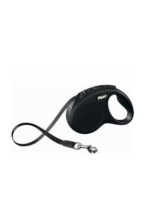 Flexi New Classic 5 M Şerit Otomatik Köpek Tasması S Siyah