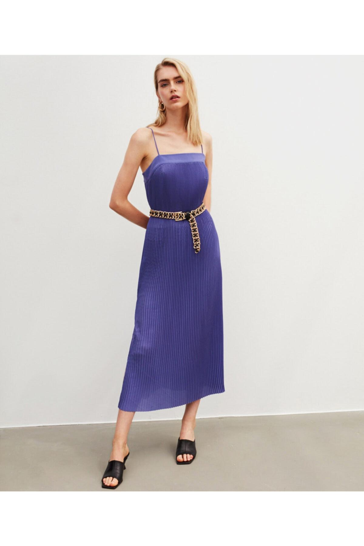 İpekyol Ince Askılı Pilise Elbise 1