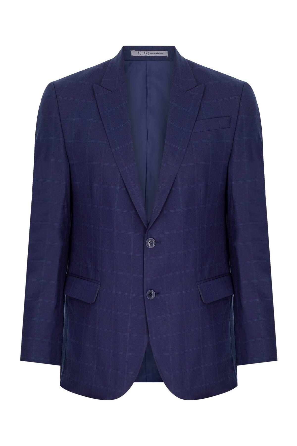 İgs Erkek Lacivert Slım Fıt / Dar Kalıp 9cm Kırlangıç Takım Elbise 2