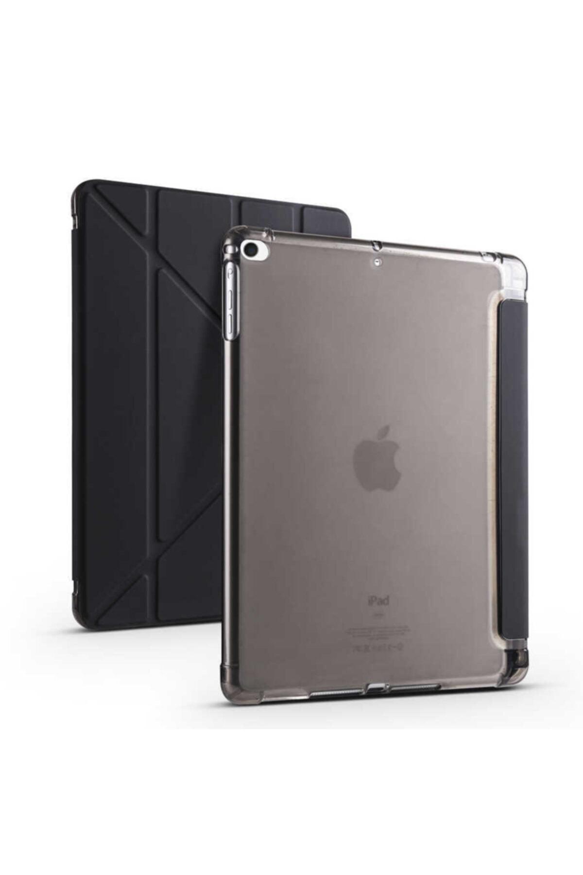 carına vannı Apple Ipad 9.7 2018 Uyumlu Siyah,kalem Bölmeli Katlanabilir Tablet Kılıfı,standlı Kılıf Pnd 1