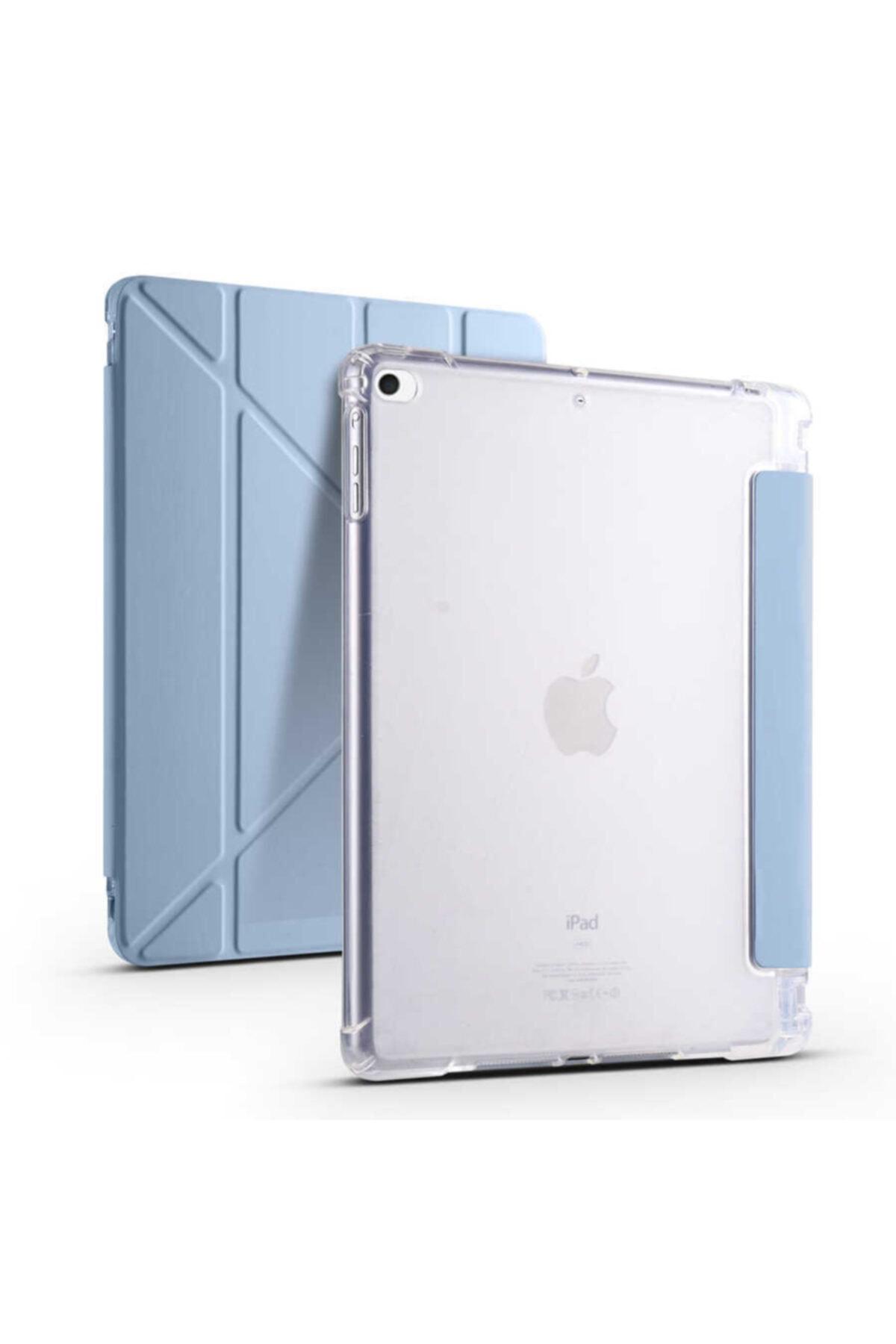 carına vannı Apple Ipad 9.7 2018 Uyumlu Mavi Kalem Bölmeli Katlanabilir Tablet Kılıfı,standlı Kılıf Pnd 1
