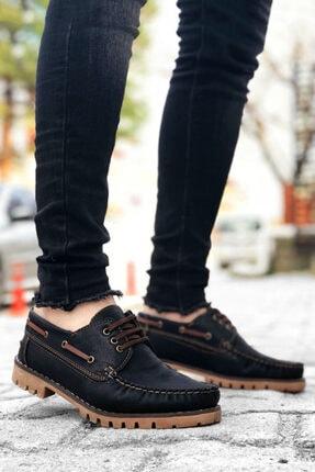 BIG KING Bağcıklı Siyah Taba Klasik Ayakkabı