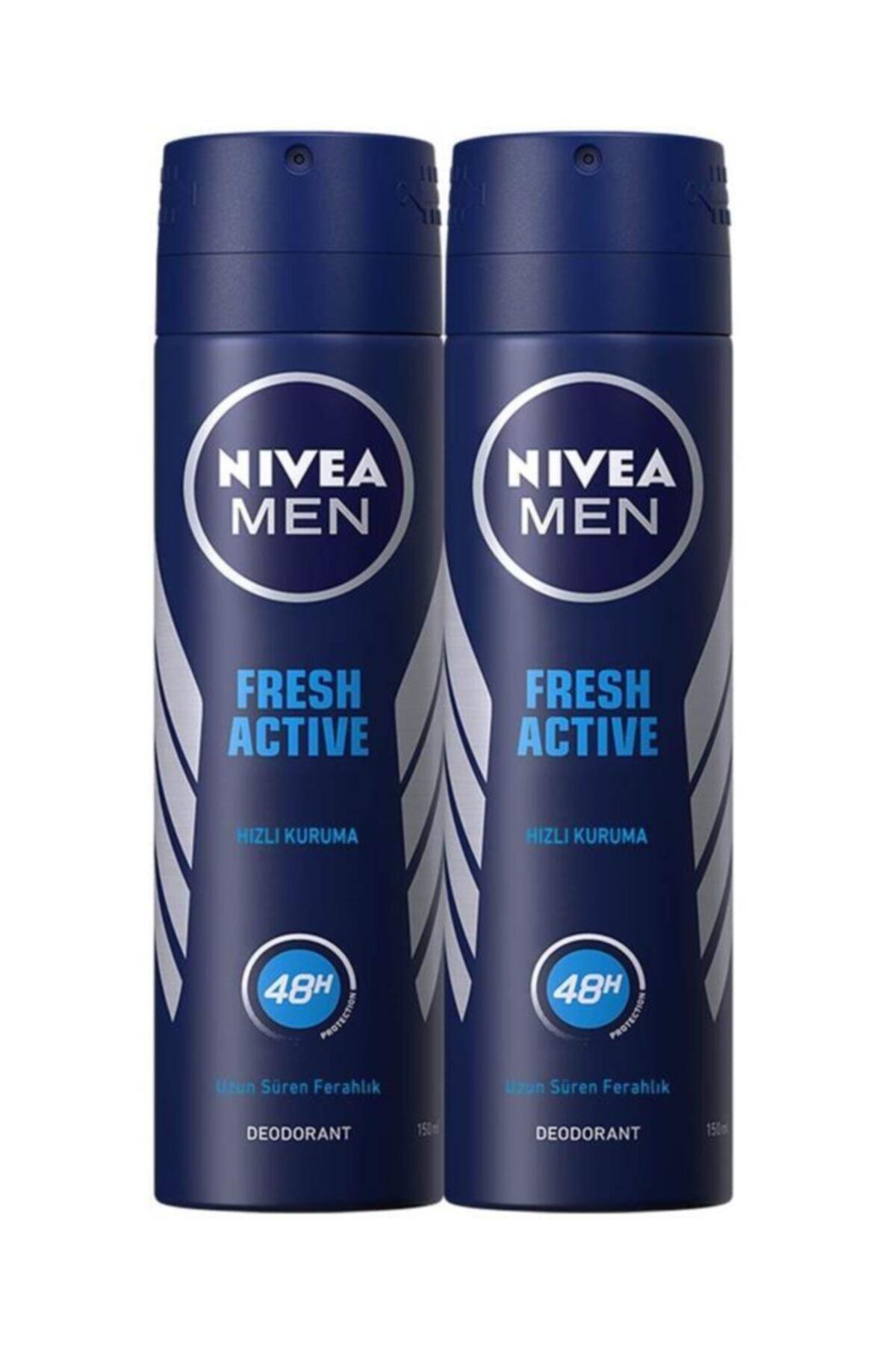Nivea Fresh Active Erkek Sprey Deodorant 150 ml X 2 Adet Avantajlı Paket 1